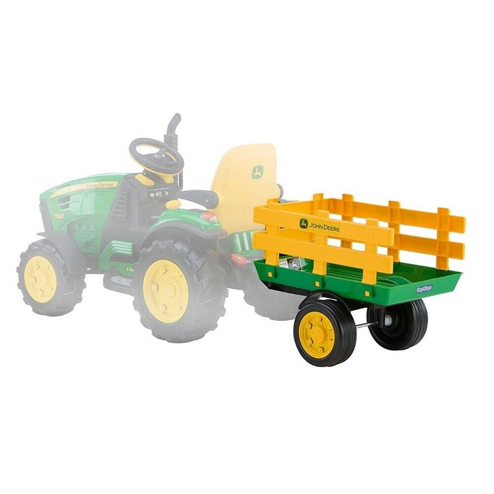 Peg Perego Ride On Toys >> Peg Perego John Deere Tractor Trailer Kids Ride On Toy Accessory