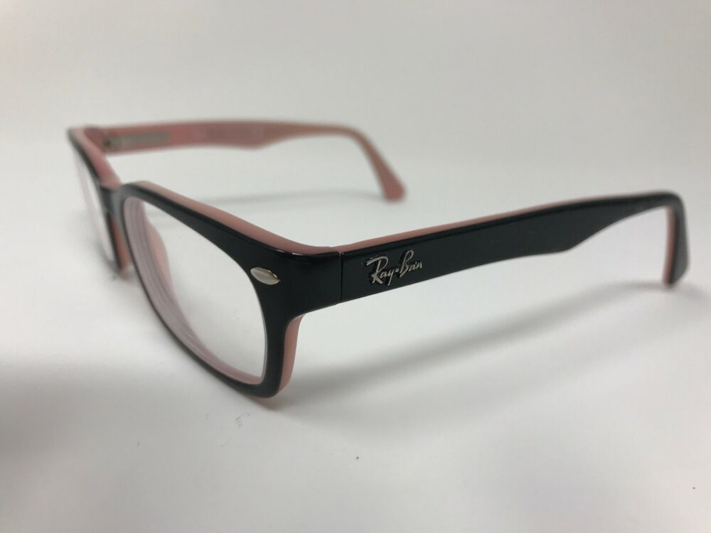 67da744224 Details about Ray-Ban Womens Eyeglasses RB5150-5024 50-19-135 Glossy  Black Pink JV25