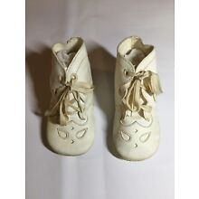 VTG Infant Baby White Shoes
