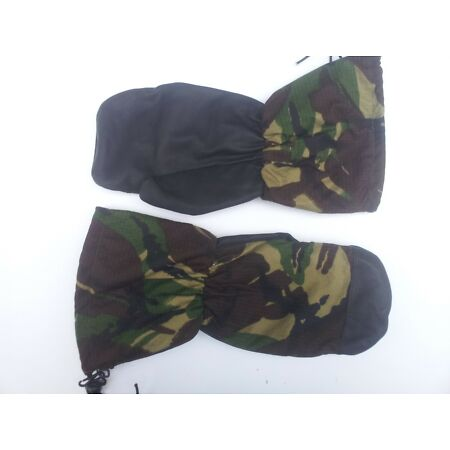 img-Genuine British Army Arctic Mittens Inner Mittens Leather Palm DPM Camouflage