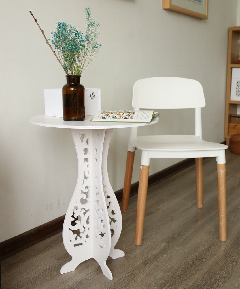 Side Tables For Living Room Details about Accent Round Coffee Tea Sofa Side Table Living Room Furniture  Home Decor White