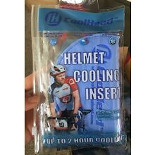 100 x COOLHEAD Cycling Helmet Insert Cooling Pad (Fits all helmets and hats)
