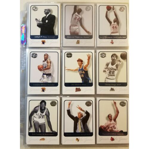 almost-complete-set-of-2001-fleer-greats-of-the-game-basketball-trading-cards