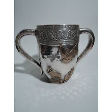 Gorham Cup - 15 - Antique Japonesque - American Mixed Metal & Sterling Silver