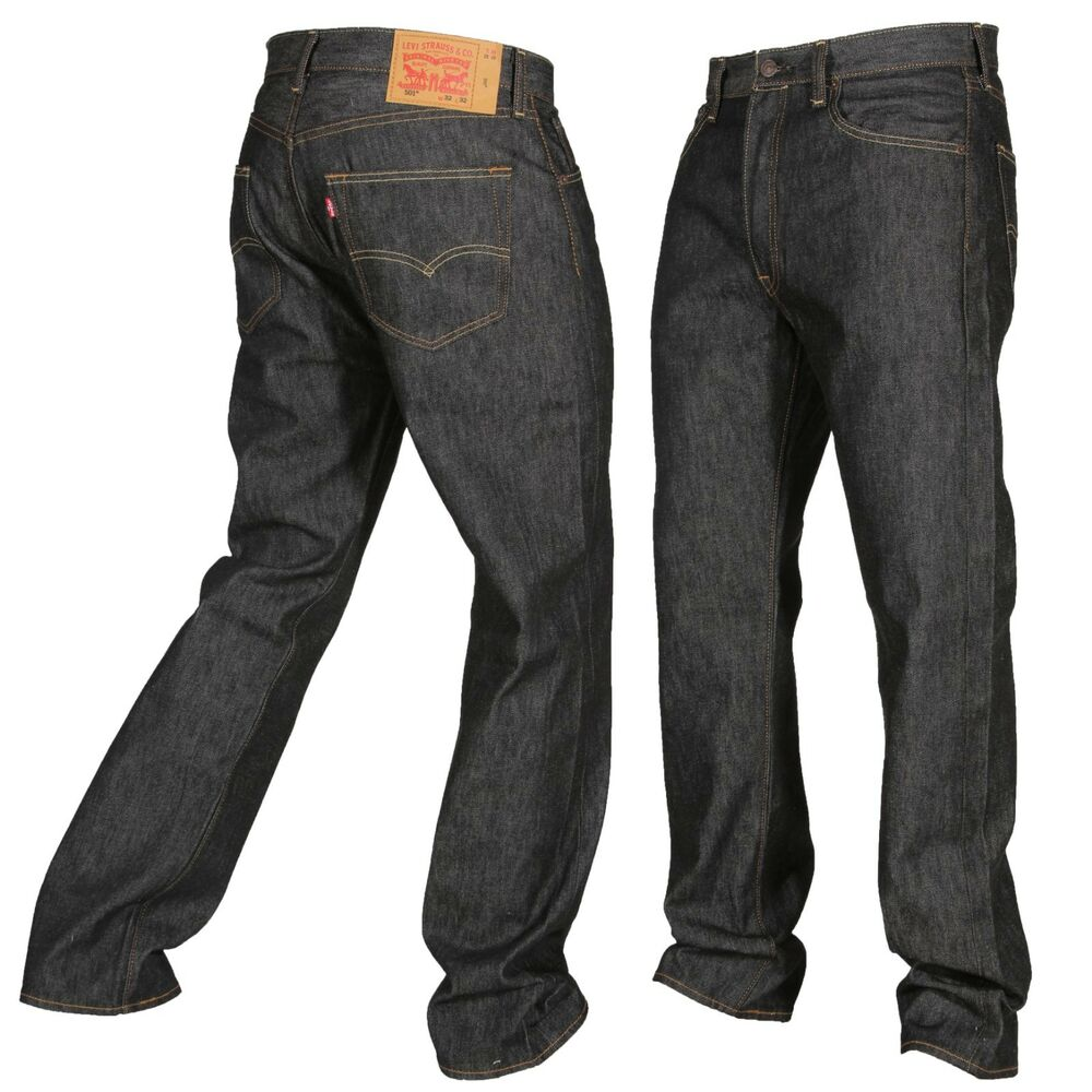 b94bb425 Details about Levis 501 Button Fly Jeans Shrink To Fit Mens Many Sizes  Colors New W Tags Black