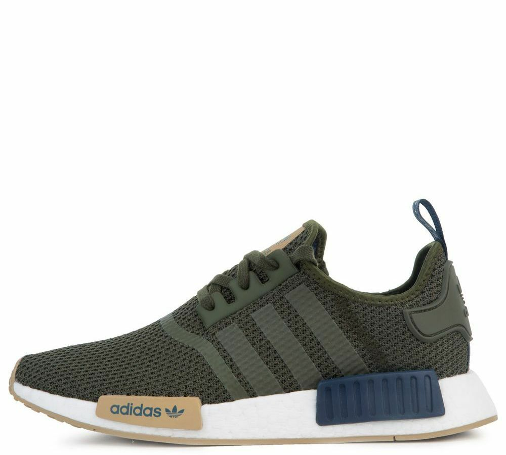 Details about New ADIDAS Men Originals NMD R1 Boost Shoes (F97174) Night  Cargo Coll Navy-Hemp 3065ebd62