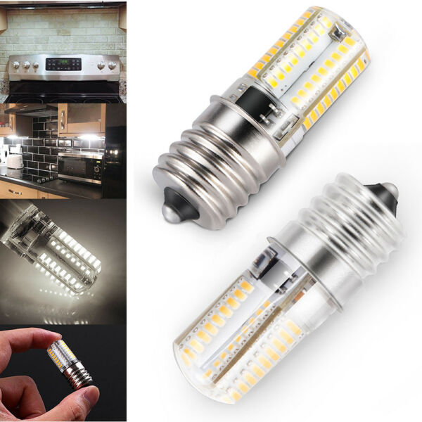 2x E17 LED Bulb Microwave Appliance Dimmable 4W Natural White 6000K US Shipping