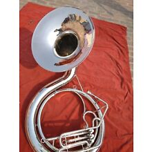 Sousaphone Horn Biggest size 25 inches valve made of pure chrome with free case