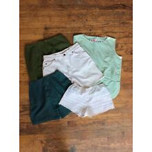 5 piece VINTAGE womens clothing LOT green white LEVI'S WHOLESALE bundle xs SMALL