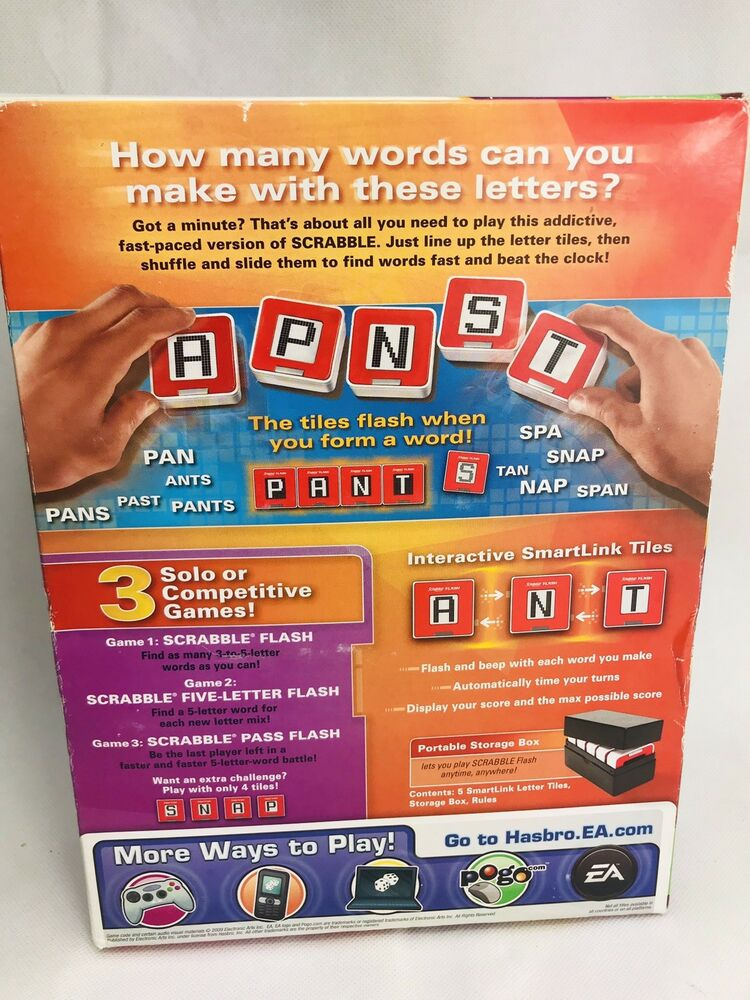 Details about Electronic Scrabble Flash Hasbro Word Game New 2010