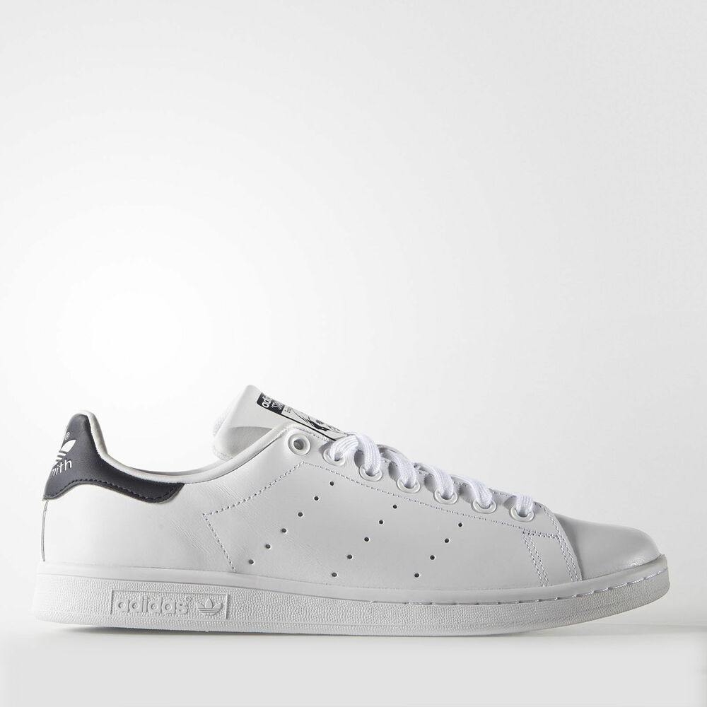 online store ad649 37a72 Details about New Adidas Men s Originals Stan Smith Shoes (M20325) White     White-New Navy