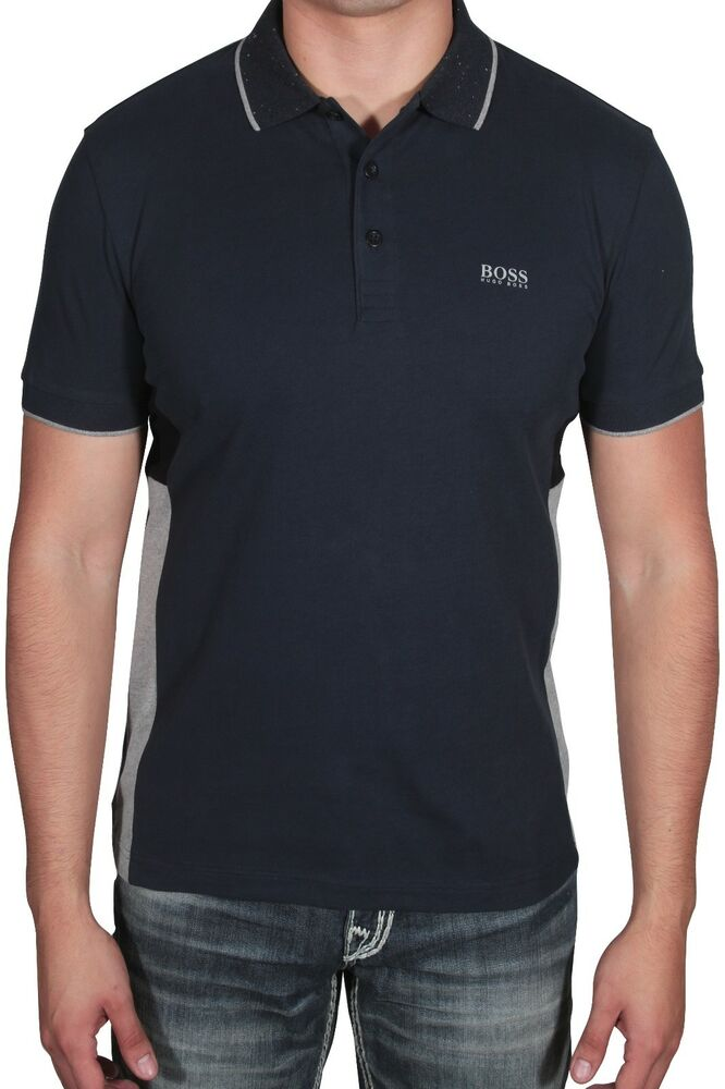 e01a718af4a9 Details about Hugo BOSS Men's Polo Shirt Paddy 4 Short Sleeve 50392685 410 Navy  Blue