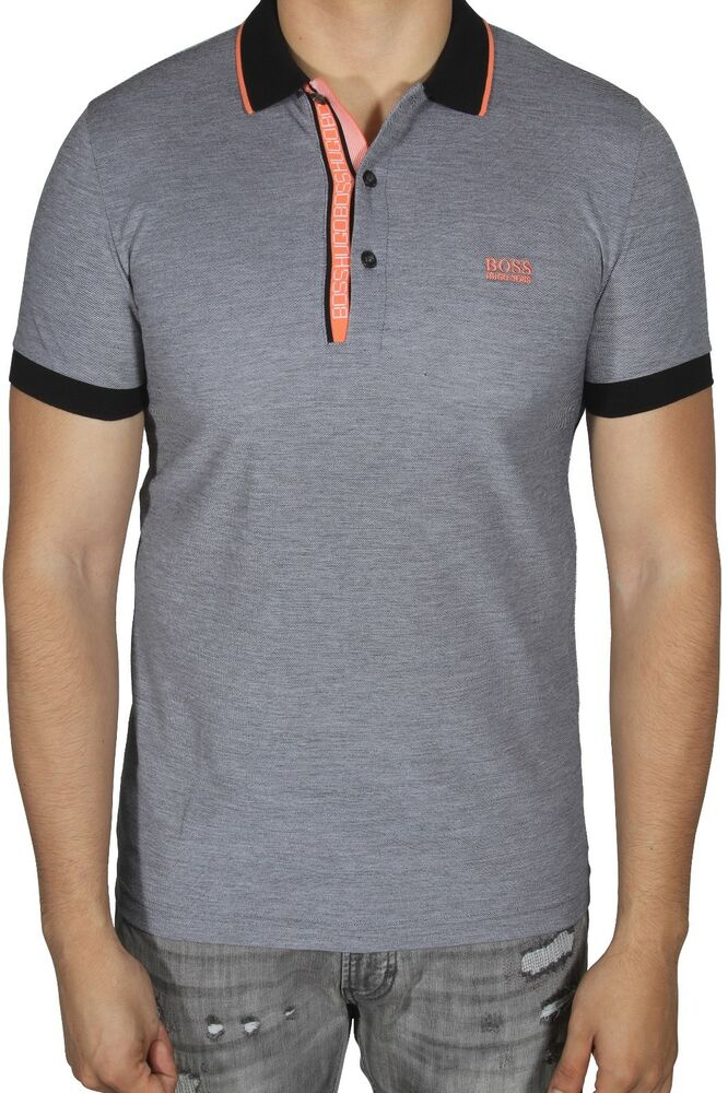 ea978e620f Details about Hugo BOSS Men's Polo Shirt Paule 4 Short Sleeve Slim Fit  50374389 008 Black