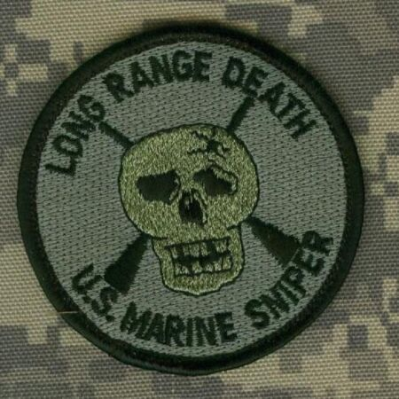 img-US MARINE USMC MARSOC RAIDERS RECON velkrö PATCH: Long Range Death Sniper