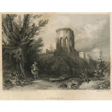 Samaria (Holy Land/West Bank) Authentic 1836 Steel Engraving View: David Roberts