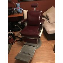 Vintage Belmont Barber Chair With Headrest And Ashtray. Awesome Shape