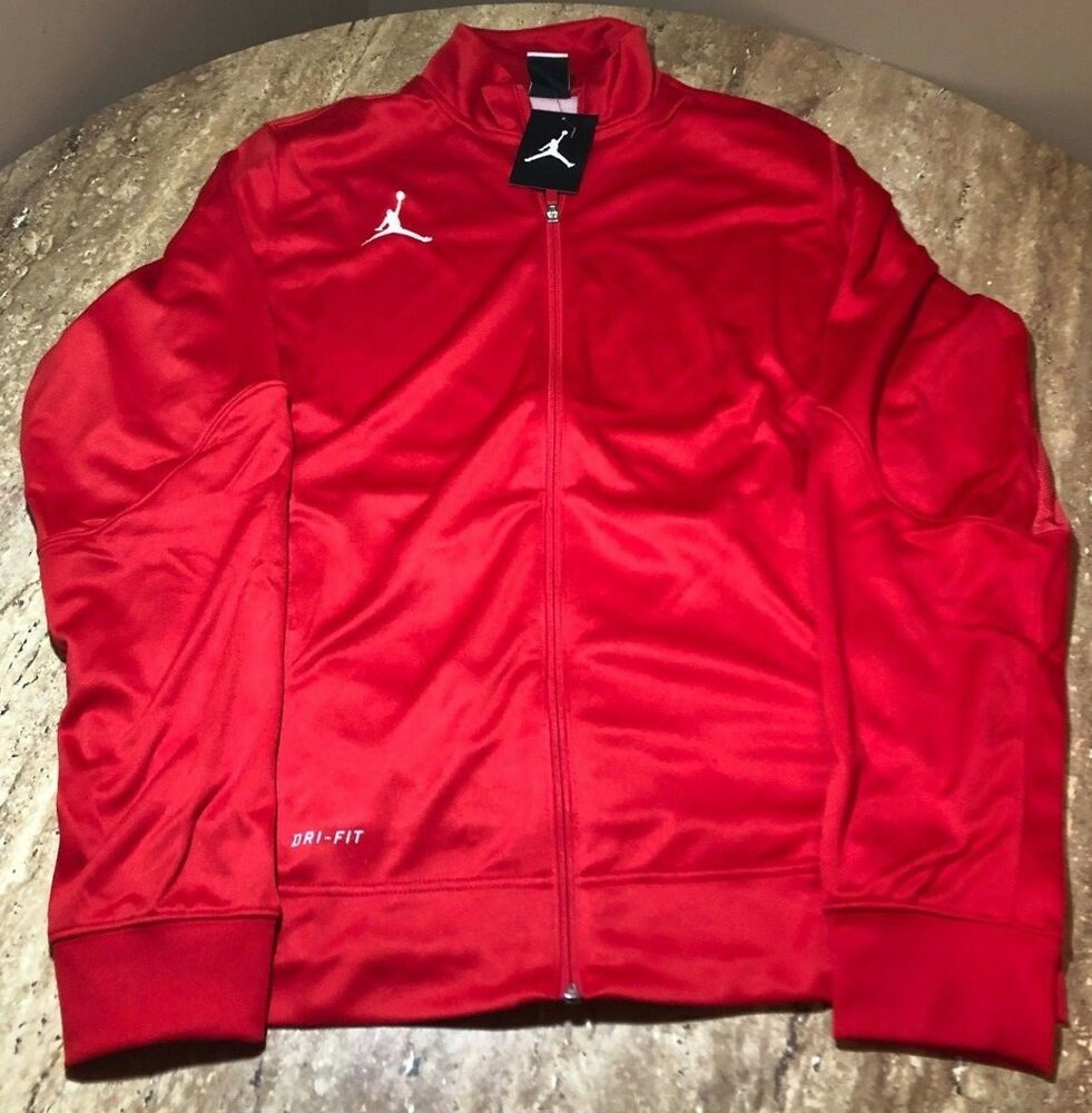 e7aaf1cad43 Details about Nike Air Jordan Jumpman Flight Team Jacket Red/White  696736-657 - Size L