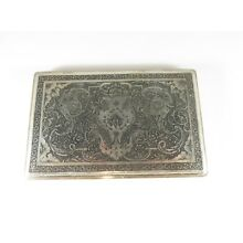 Early 1900's Persian Silver Cigarette Case Islamic Decorated 176 Grams