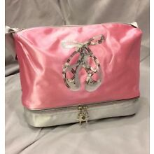 Girls Pink Satin Dance Ballet Tap Jazz Tote Bag - NWT