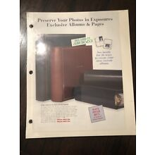 EXPOSURES MAGNETIC PHOTO ALBUM REFILL 20 SIDES 10  PAGES  9