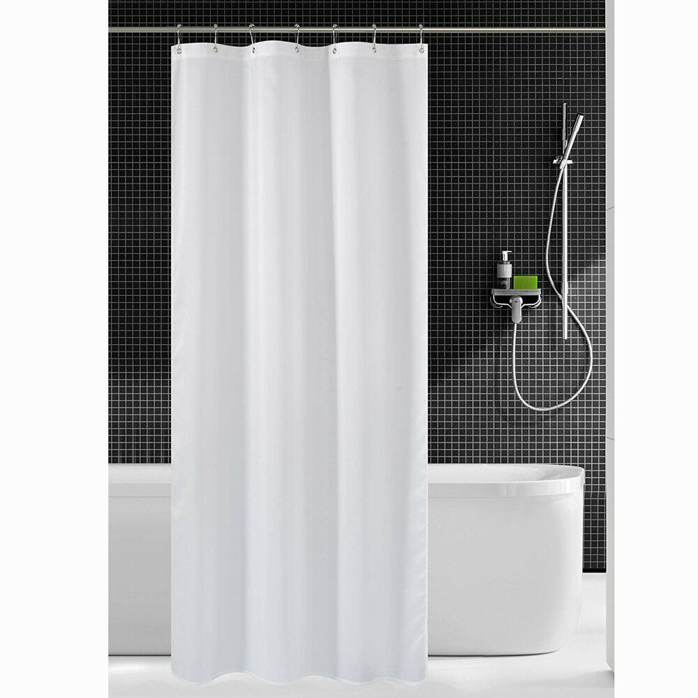 Details About Fabric Shower Curtain Mildew Resistant Washable Water Repellent Spa Bath