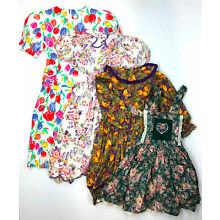 Vintage Retro 90s Lot of 4 Girls Floral Dresses Pinafore Size 6 6x Wee Clancy
