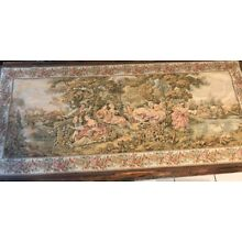 Magnificent Large Antique Vintage French Wall Hanging Tapestry 70x 200 Huge!