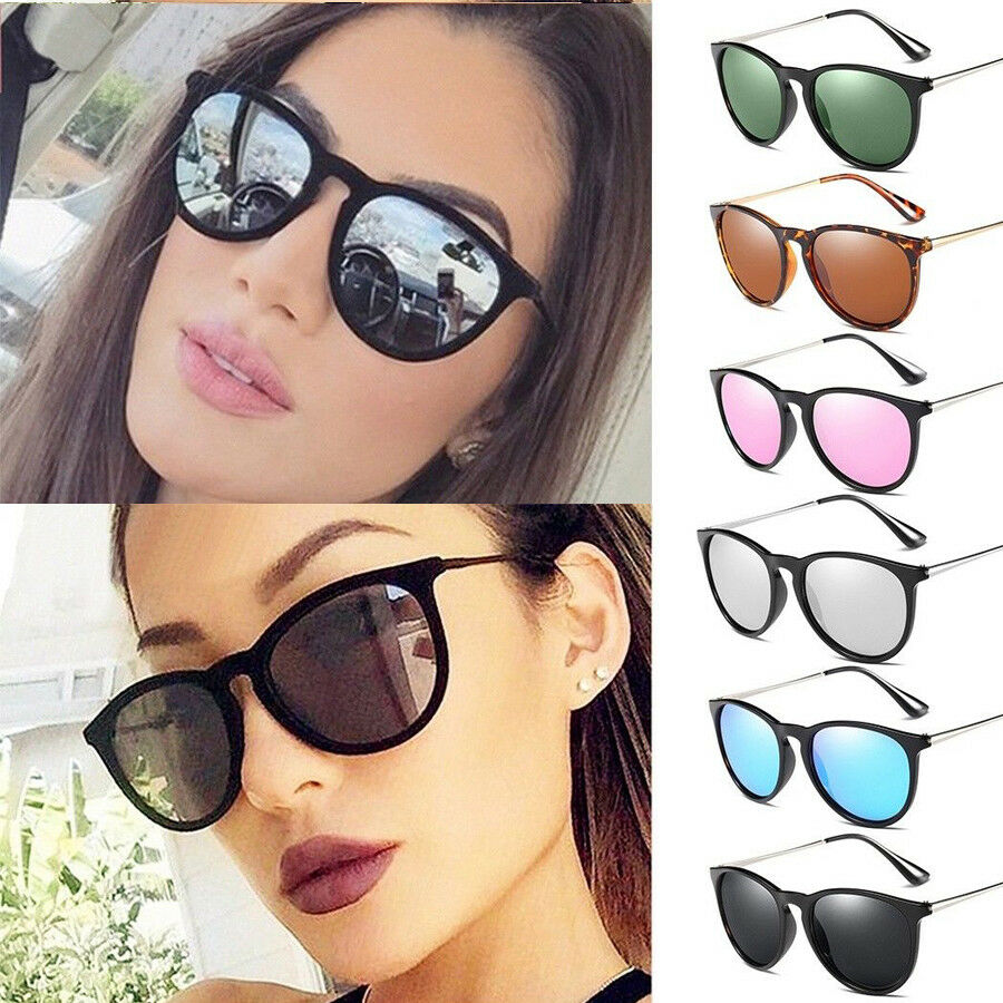 7d9a65fa55f4 Details about Vintage Polarized Sunglasses Retro Womens HD Mirror Glasses  Eyewear UV400 Shades