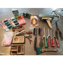 Vintage Hair Style Tools Roller Pins,hot Comb, curling Iron,oster Hair Dryer