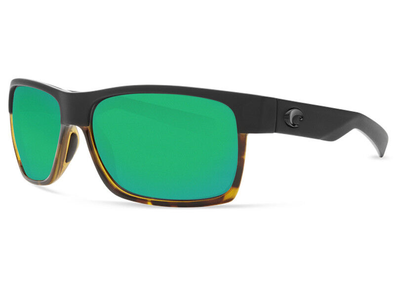 e61dededd3 Details about NEW Costa Del Mar HALF MOON Black   Shiny Tortoise   580  Green Mirror Glass 580G