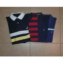 Lot of 4 Nautica Polo Shirts Short Sleeve in Men's size L/XL