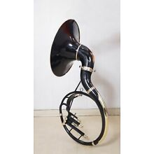 Sousaphone Horn 22 Inches Valve customized Black Color Made of Pure Brass
