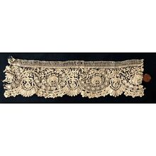 19th C Mixed Brussels Duchesse and point de gaze lace STUDY PIECE
