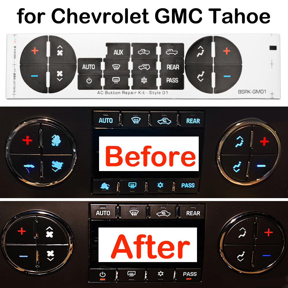 Details About Ac On Repair Kit Decal Stickers Dash Replacement F 06 15 Chevrolet Gmc Tahoe