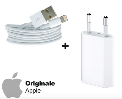 KIT SPINA ORIGINALE APPLE + CAVO LIGHTNING ORIGINALE APPLE IPHONE 5 6 S 7 8 X