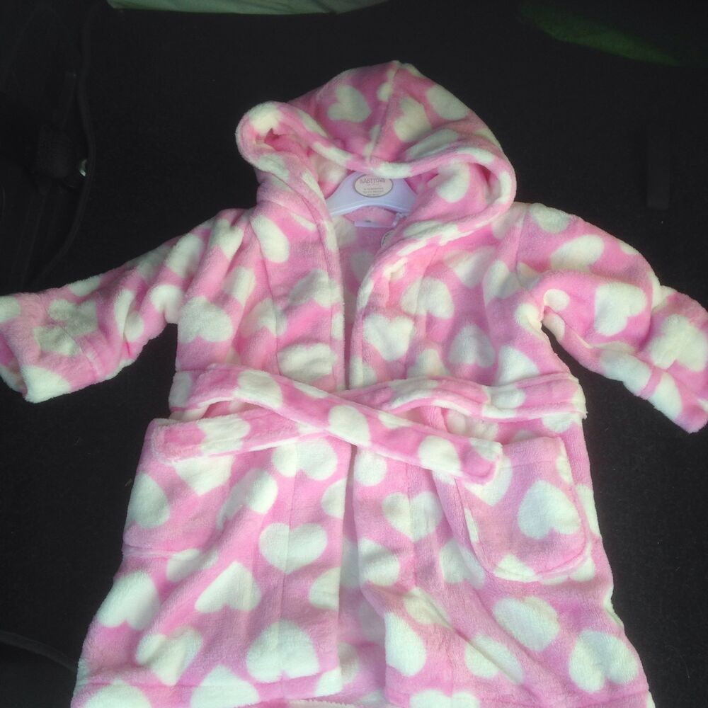 New Pink Love Heart Housecoat 6-12 Months Clothing, Shoes & Accessories Girls' Clothing (newborn-5t)