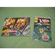 Rare Vintage (X-Men promo) POSTER and FREE sealed X-Men comic book (from 1993)