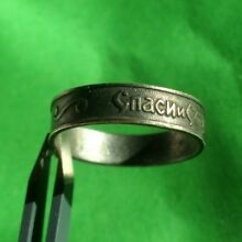 SUPERB 19th CENTURY RUSSIAN SILVER RING WITH INSCRIPTION ''SAVE AND PROTECT''