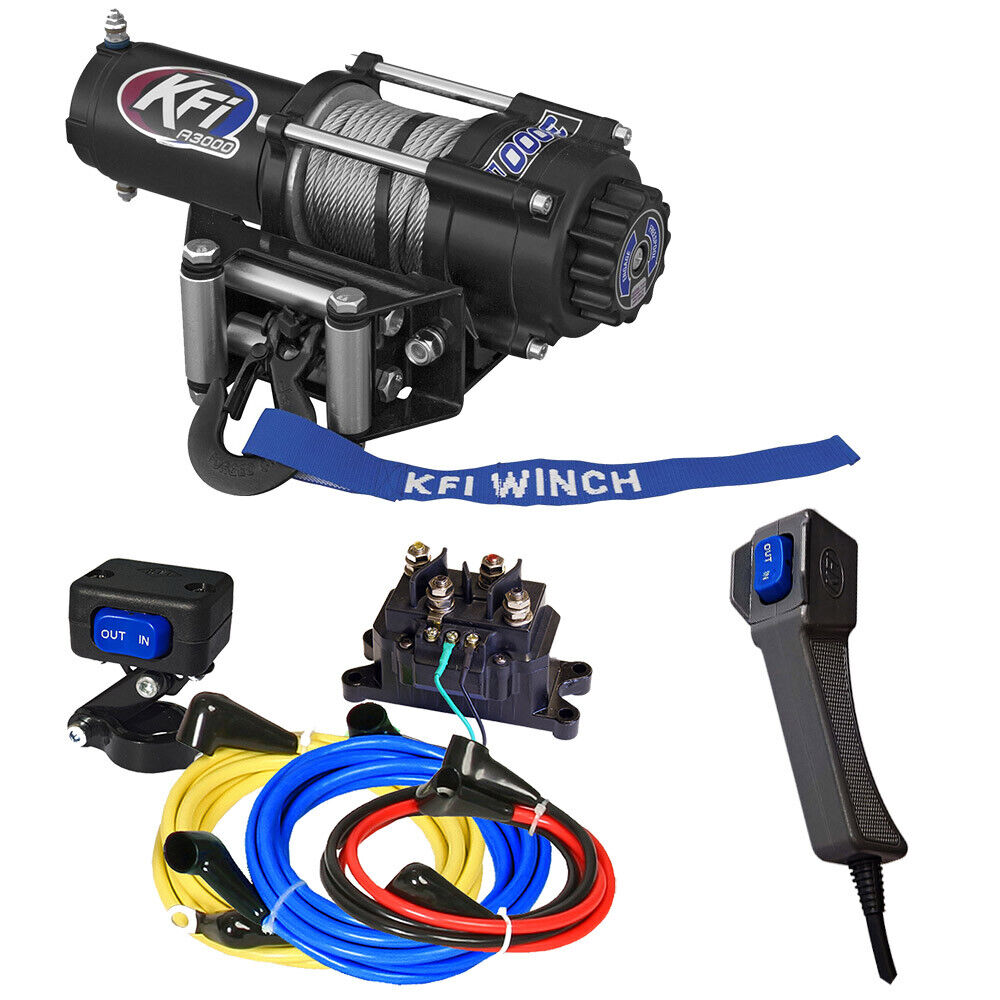 kfi a3000 winch with mount wire kit for 2015 2019. Black Bedroom Furniture Sets. Home Design Ideas