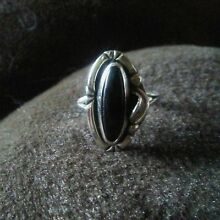 Sterling Silver Black Onyx Ring size 6