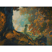 Original 1928 Large Maxfield Parrish DREAMING Framed Print - Excellent Color