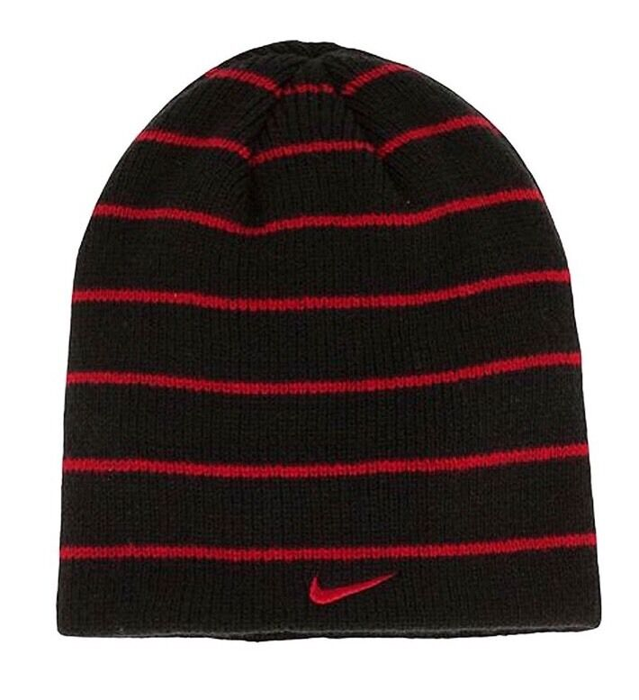060099c52d3 Details about  NEW Boys Nike Swoosh Striped Beanie Skull Cap Winter Ski Hat  One Size Fits 8-20