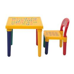 Kyпить Desk Chair Kids Table Set Play Study Children Activity Furniture Toddler Yellow на еВаy.соm