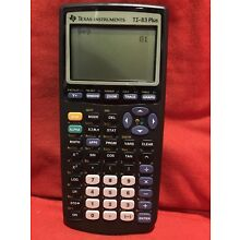 Working Texas Instruments TI-83 Plus Graphing Calculator with Manual in Box