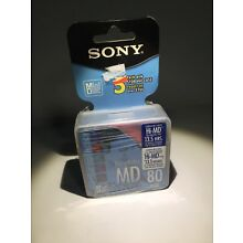 Sony MiniDisc SEALED 5 Pack of 5MDW80CL Recordable MD