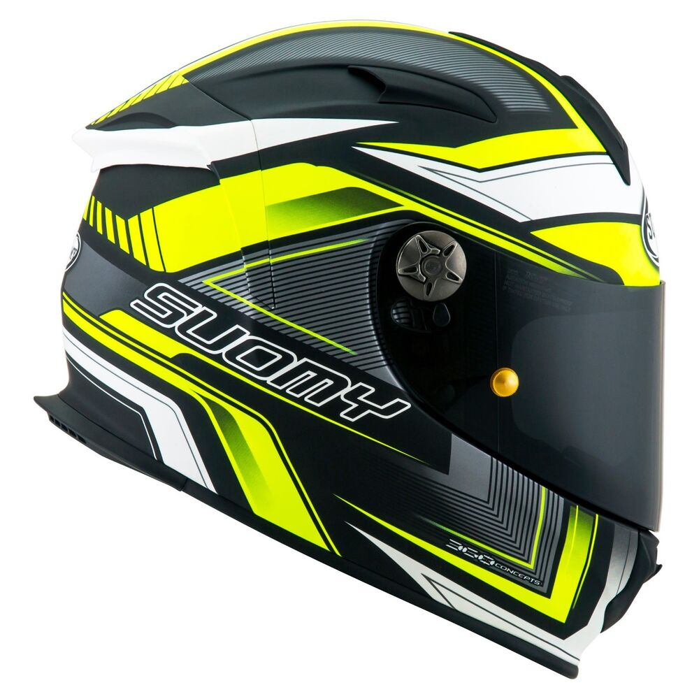 1294edc451457 Details about Helmet Helm Casque Helmet SUOMY SR SPORT ENGINE MATT  BLACK YELLOW FLUO KSSR0038