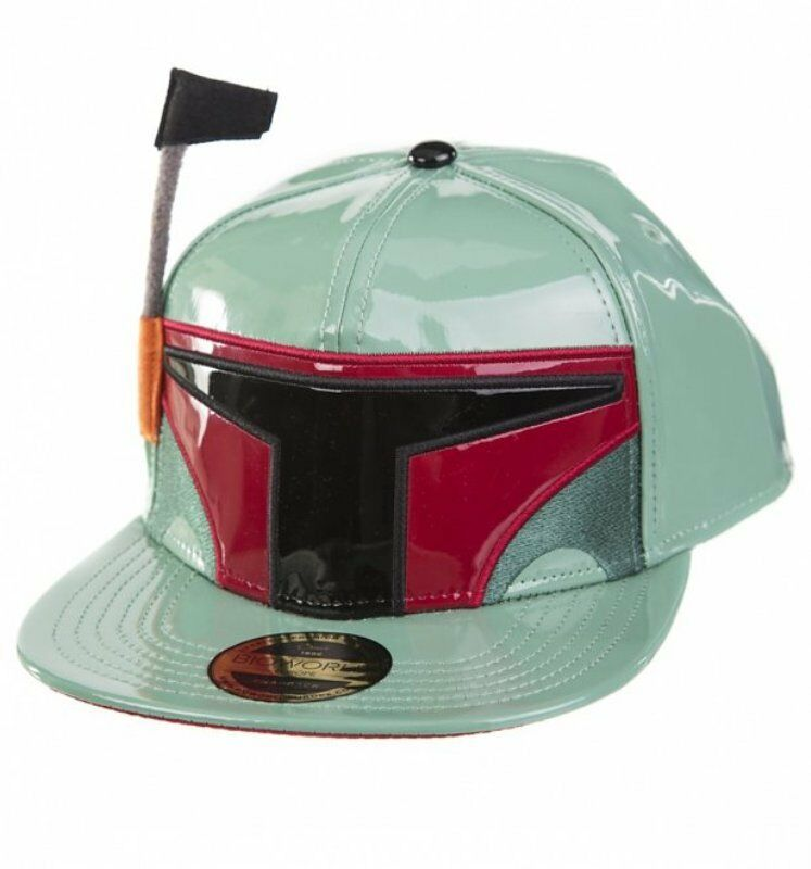 Details about Hat Star Wars Boba Fett with antenna Snapback Cap Hat  Bioworld Disney acc59cfb38f