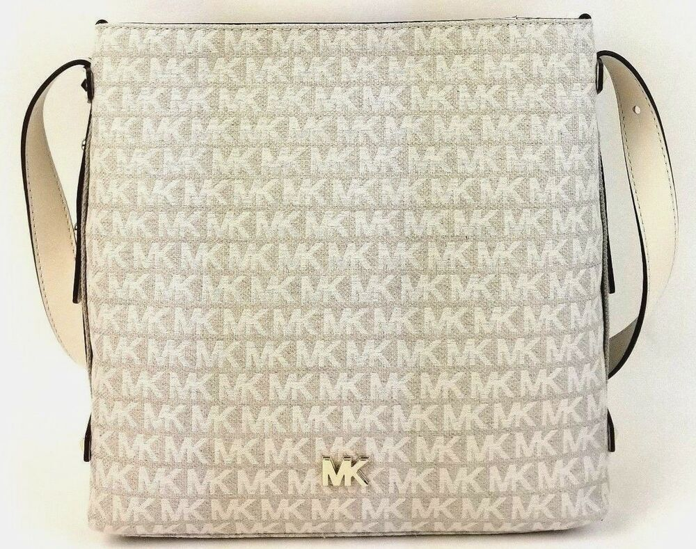 7f60339332af Details about Michael Kors NWT $228 Signature North South Griffin Messenger  Jacquard Crossbody