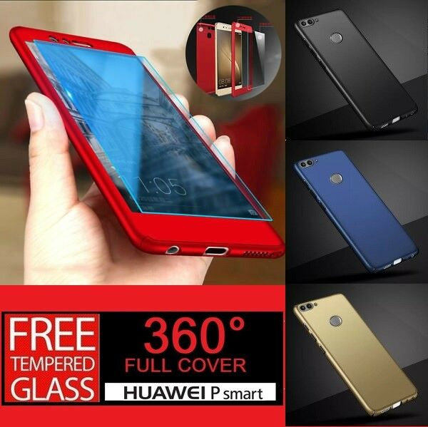 For Huawei P Smart 2018 360° Full Protective Hybrid Case + Tempered Glass Cover