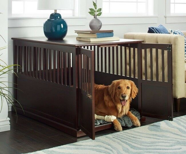 Details About Large Dog Crate Xl Indoor Pet Kennel End Table Stand Doghouse Cage Furniture